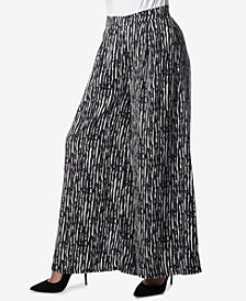 Verona Collection Printed Wide-Leg Pants