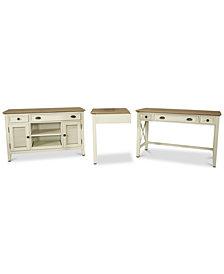 Brompton II Home Office, 3-Pc. Furniture Set (Writing Desk, Corner Unit & Credenza Desk)