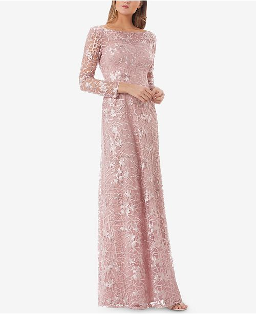 1640aacc6a JS Collections Embroidered Lace Gown  JS Collections Embroidered Lace Gown  ...