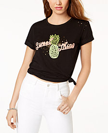 GUESS Sweet Thing Sequined Graphic T-Shirt