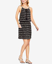 Vince Camuto Tassel-Tie A-Line Dress