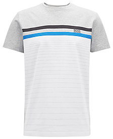 BOSS Men's Regular/Classic-Fit Cotton Multicolor Striped T-Shirt