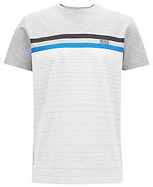 BOSS Men's Regular/Classic-Fit Cotton Multicolor Striped T-Shirt