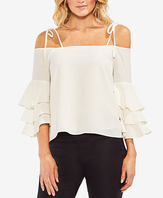 Off The Shoulder Ruffle Sleeve Top by Vince Camuto