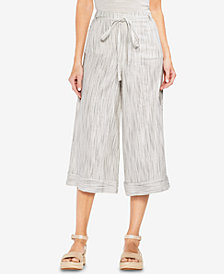 Vince Camuto Ticking Stripe Wide-Leg Pants