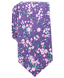 Bar III Men's Medgar Floral Skinny Tie, Created for Macy's