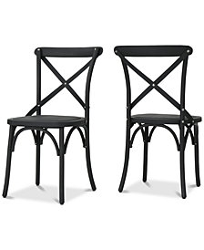 Montecito Outdoor Dining Chairs (Set of 2), Quick Ship