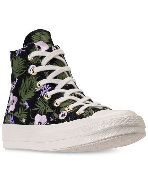 486f222fcdba ... Converse Unisex Chuck Taylor All Star 70 Palm Print High Top Casual  Sneakers from Finish Line ...