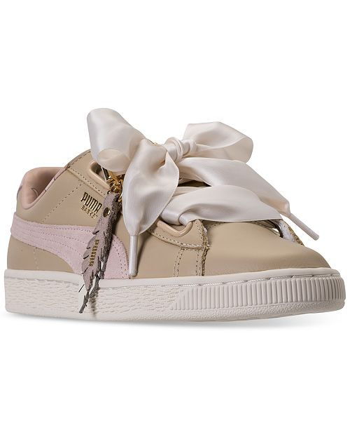 detailed look 0d697 061b2 Puma Women s Basket Heart Coach Casual Sneakers from Finish ...
