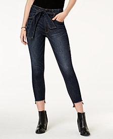 Tinseltown Juniors' Paperbag Step-Hem Skinny Jeans