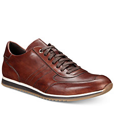 Massimo Emporio Men's Leather Lace-Up Trainers, Created for Macy's