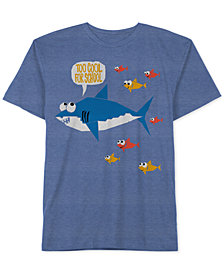 Jem Little Boys Shark Graphic-Print T-Shirt