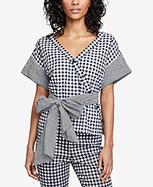 RACHEL Rachel Roy Calle Printed Wrap Top, Created for Macy's