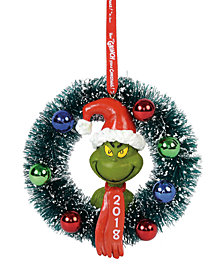 Department 56 Grinch 2018 Wreath Ornament
