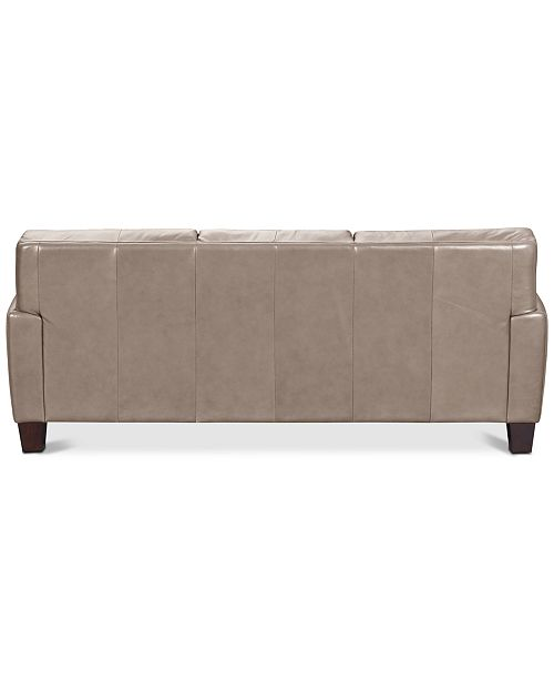 Furniture Kaleb 84 Quot Tufted Leather Sofa Created For Macy