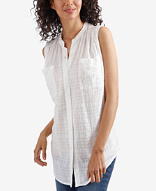 Lucky Brand Cotton Tunic Shirt