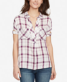 WILLIAM RAST Plaid V-Neck Shirt