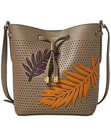 Lauren Ralph Lauren Embroidered Debby Drawstring Bag