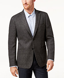 Michael Kors Men's Classic-Fit Gray Tonal Neat Sport Coat