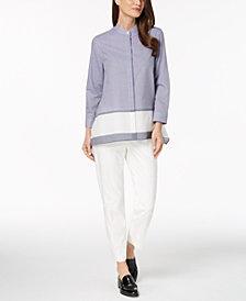 Anne Klein Trapeze Shirt & Slim-Fit Pants