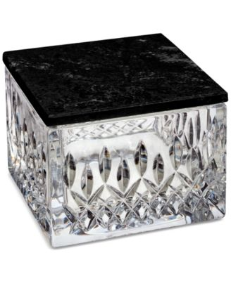 Lismore Covered Box with Marble Lid