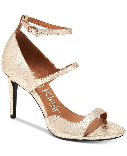 Calvin Klein Women's Nadeen Strappy Sandals Women's Shoes k1BliWvr3G