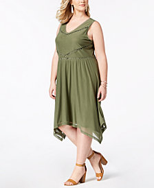 Love Scarlett Plus Size Embellished Mesh A-Line Dress