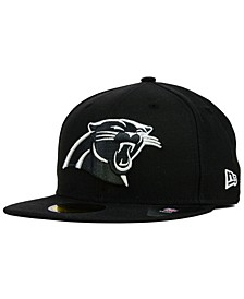 Carolina Panthers Black And White 59FIFTY Fitted Cap
