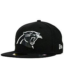 New Era Carolina Panthers Black And White 59FIFTY Fitted Cap