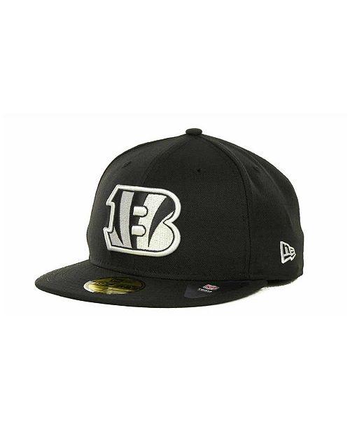 New Era Cincinnati Bengals Black And White 59FIFTY Fitted Cap