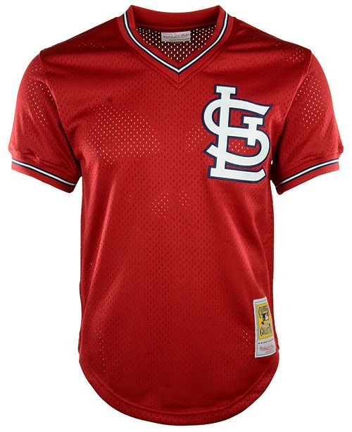 huge selection of fddfc 1ce68 ... Mitchell   Ness Men s Ozzie Smith St. Louis Cardinals Authentic Mesh  Batting Practice V- ...