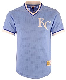 Mitchell & Ness Men's Kansas City Royals Mesh V-Neck Jersey
