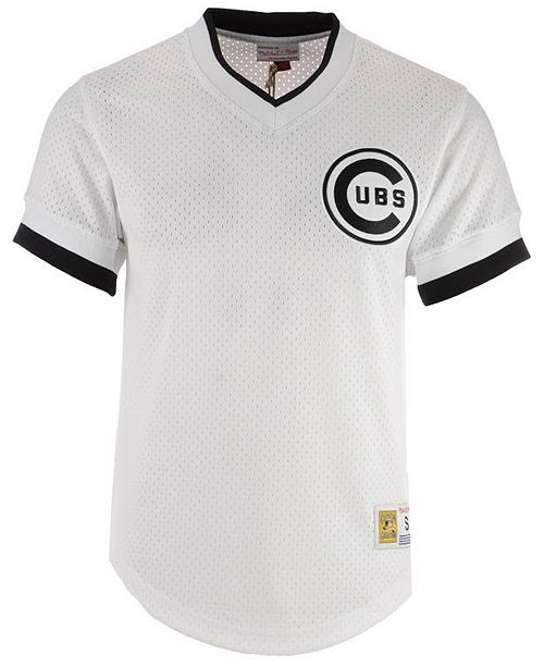 check out 62517 53e40 Mitchell & Ness Men's Chicago Cubs Mesh V-Neck Jersey ...