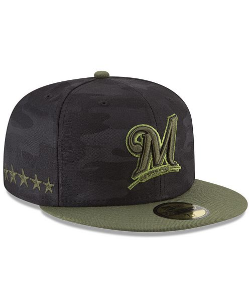 new product 360c6 d5c73 ... New Era Milwaukee Brewers Memorial Day 59FIFTY FITTED Cap ...