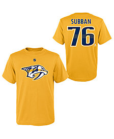 Outerstuff P.K. Subban Nashville Predators Player T-Shirt, Big Boys (8-20)