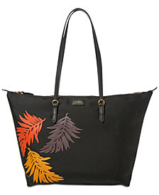 Lauren Ralph Lauren Chadwick Tote with Palm Leaves