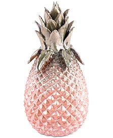 Zuo Metallic Small Pineapple Green & Pink