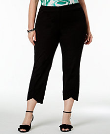 Alfani Plus Size Tulip-Hem Pants, Created for Macy's