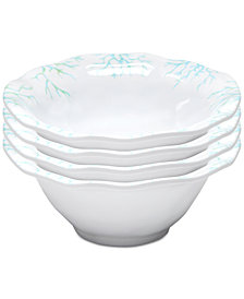 "Q Squared	Captiva 4-Pc. Melamine 6.5"" Cereal Bowl Set"