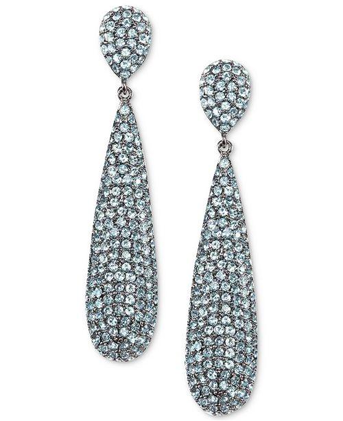 Nina Pavé Elongated Drop Earrings