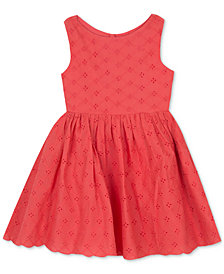 Rare Editions Eyelet Fit & Flare Dress, Baby Girls