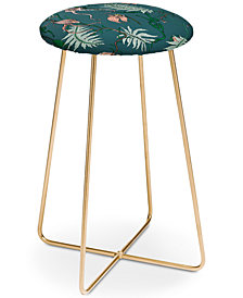 Deny Designs Holli Zollinger Orchid Botanical Counter Stool
