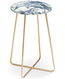 Deny Designs Jacqueline Maldonado Marble Mist Counter Stool