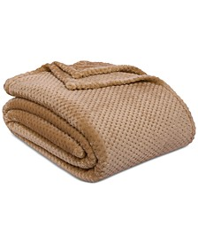 """Shimmersoft Textured Honeycomb 108"""" x 90"""" King Bed Blanket"""