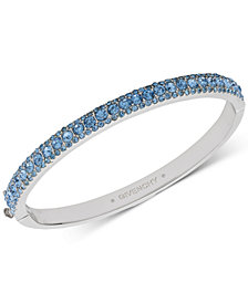 Givenchy Silver-Tone Crystal Bangle Bracelet