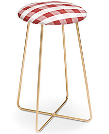 Deny Designs Monika Strigel Farmhouse Shabby Gingham Counter Stool