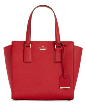 Cameron Street - Small Hayden Leather Satchel - Red, Heirloom Red