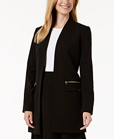 Calvin Klein Open-Front Long Jacket