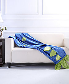 "Berkshire Toasty Tails VelvetLoft 44"" x 50"" Dinosaur Throw"