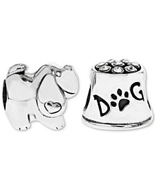 2-Pc. Set Puppy Love Bead Charms in Sterling Silver